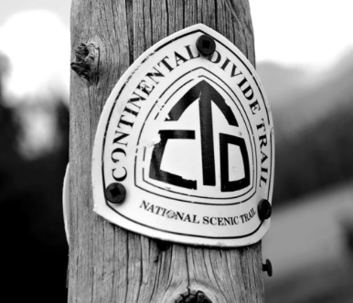 Trail marker by CDT Coalition