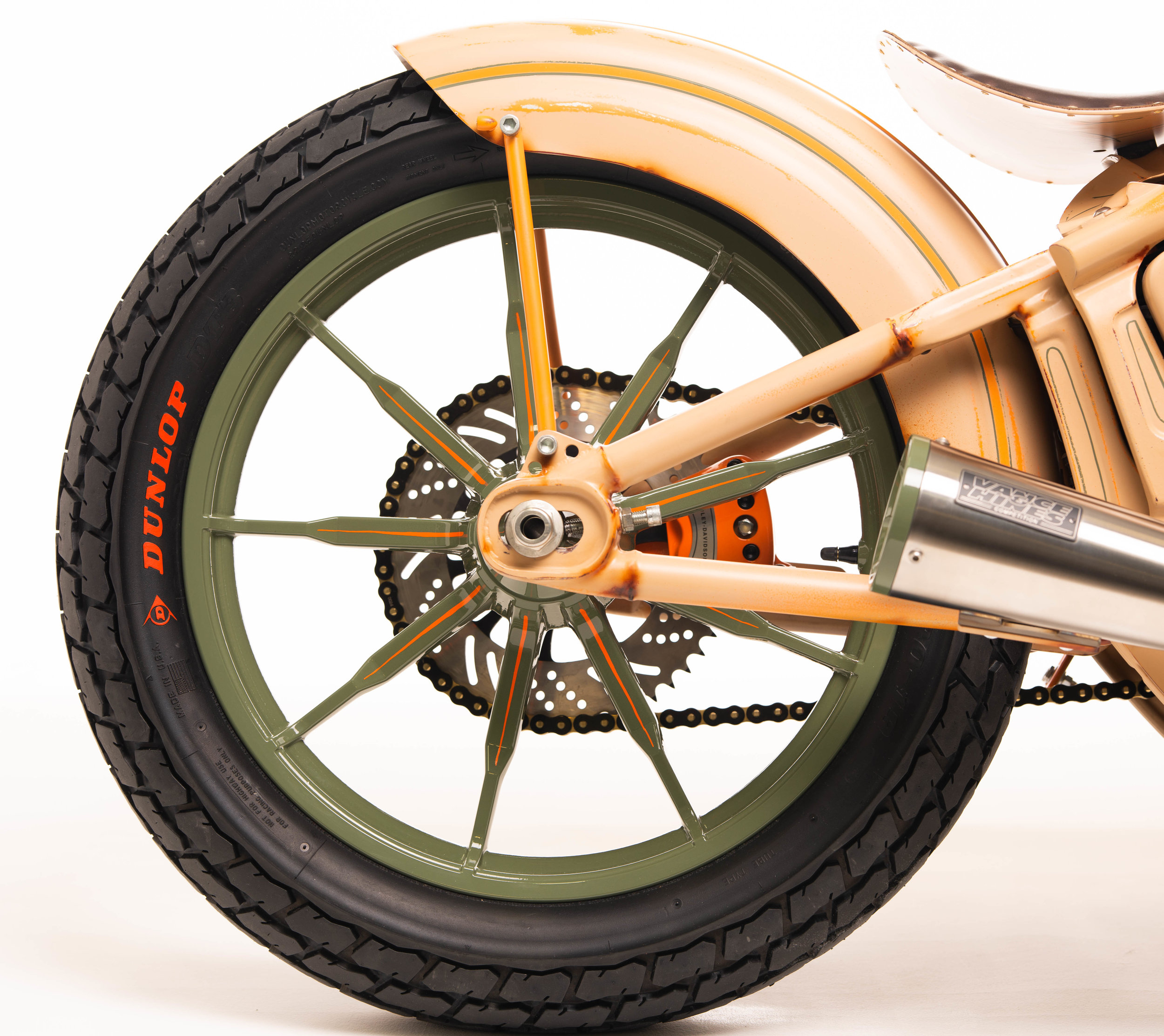 """19"""" Low Rider Front Wheels - Part No. 43300462    Modified Harley-Davidson Sportster Fender"""