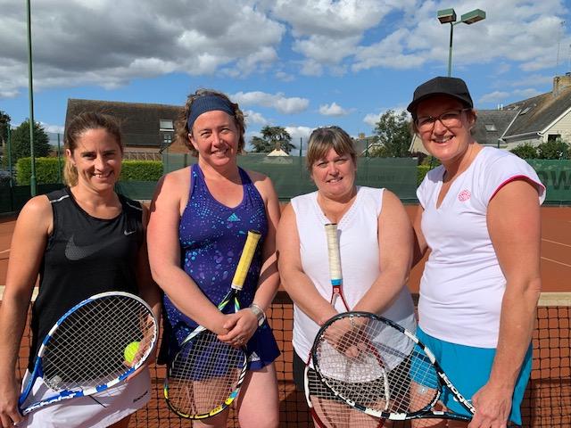 Ladies Doubles Finalists: Fiona Manby & Zoe Fuller - Lou Palmer & Julie Woodward (L-R).