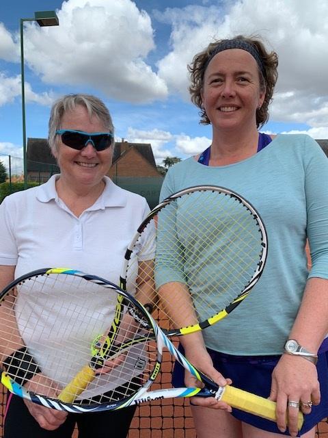 Ladies Singles Finalists: Cathy Lowenhoeff & Zoe Fuller