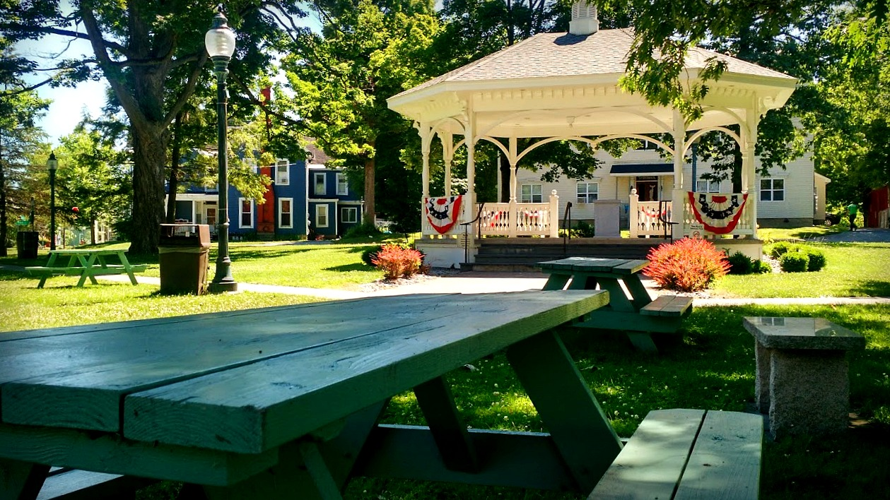 Waterville Bandstand - The Village Triangle and Bandstand host summer concerts on Wednesday nights, as well as a variety of other functions. Located in the middle of Route 12/Madison St/Park Place.