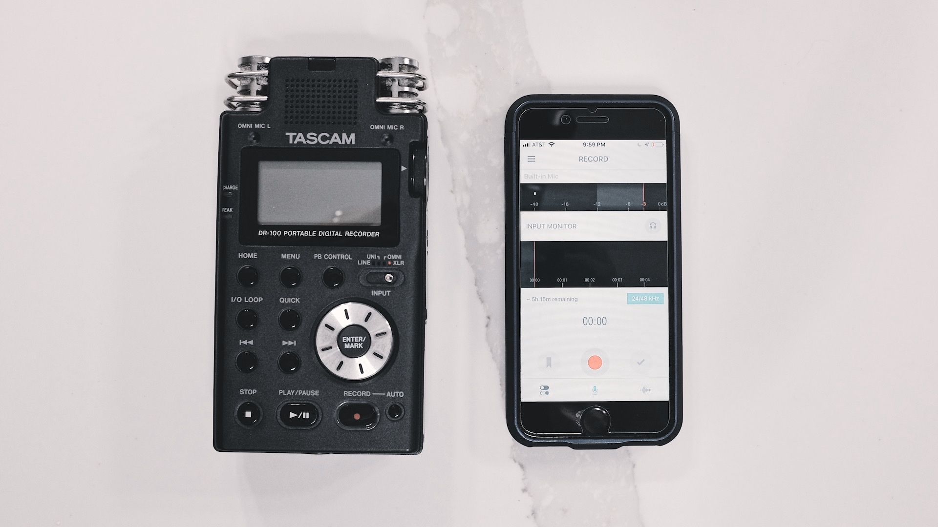 A dedicated audio field recorder compared to the iPhone.