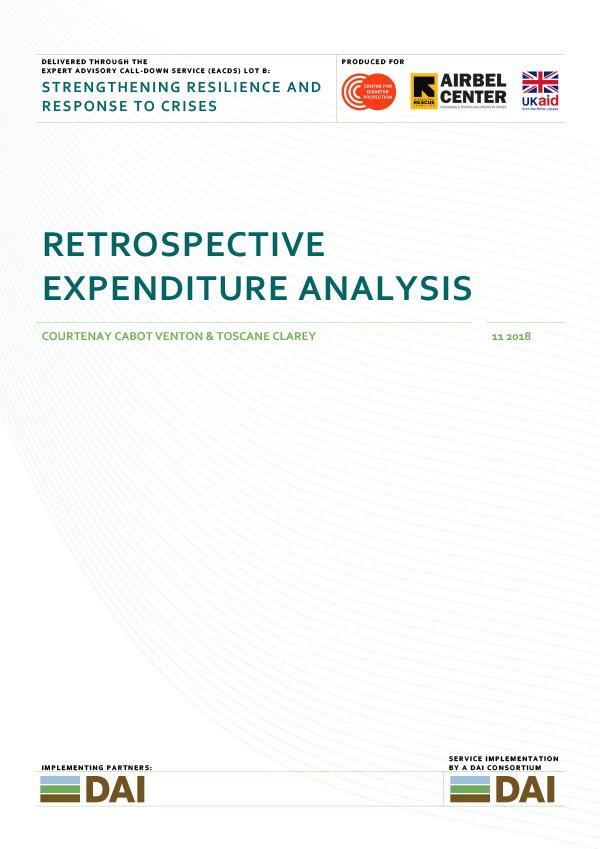 Retrospective Expenditure Analysis - NOVEMBER 2018