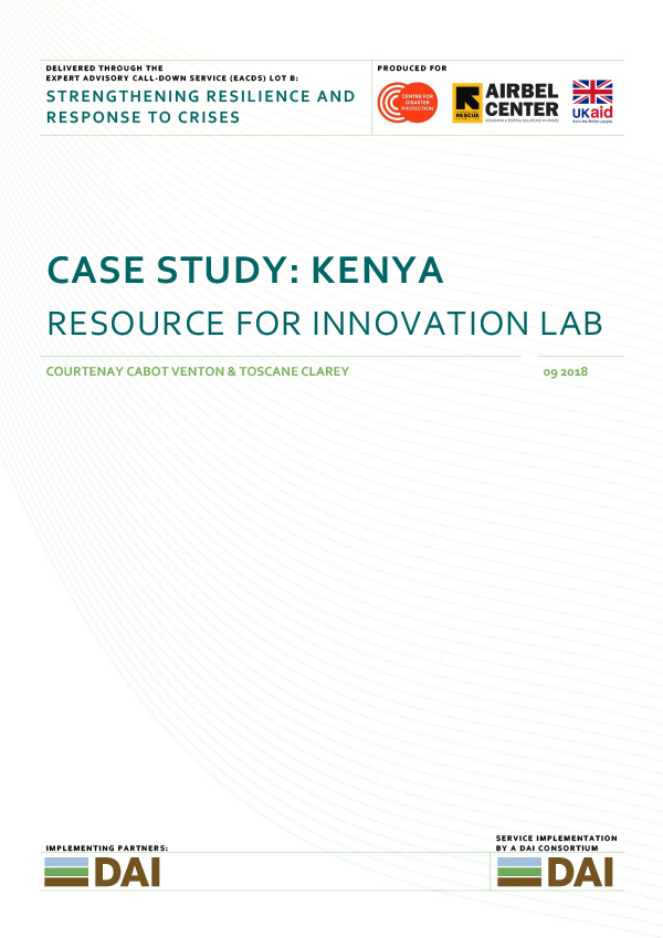 case study: kenya - RESOURCE FOR INNOVATION LABSEPTEMBER 2018