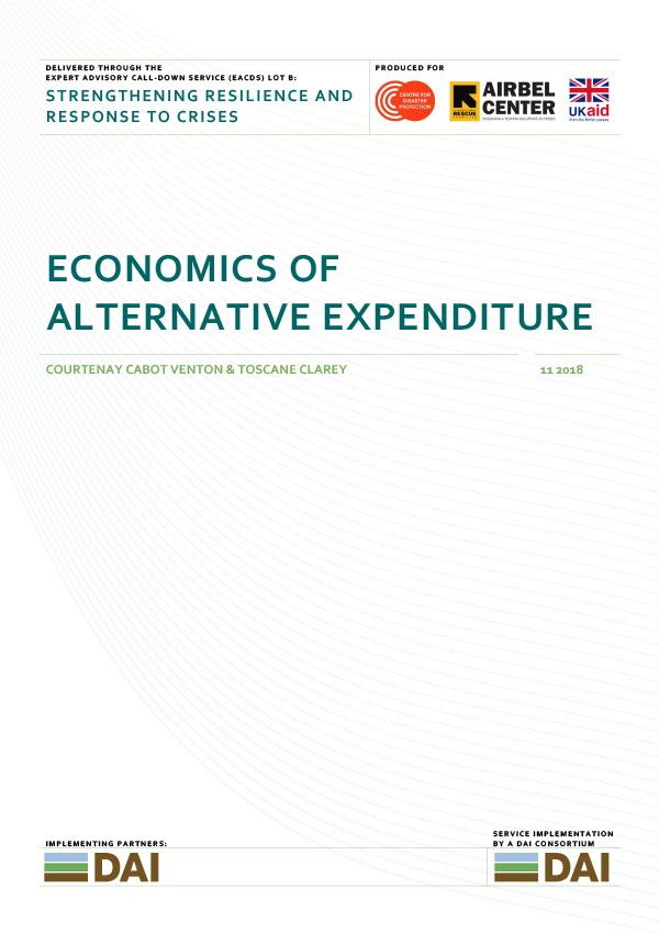 Economics of Alternative Expenditure - NOVEMBER 2018