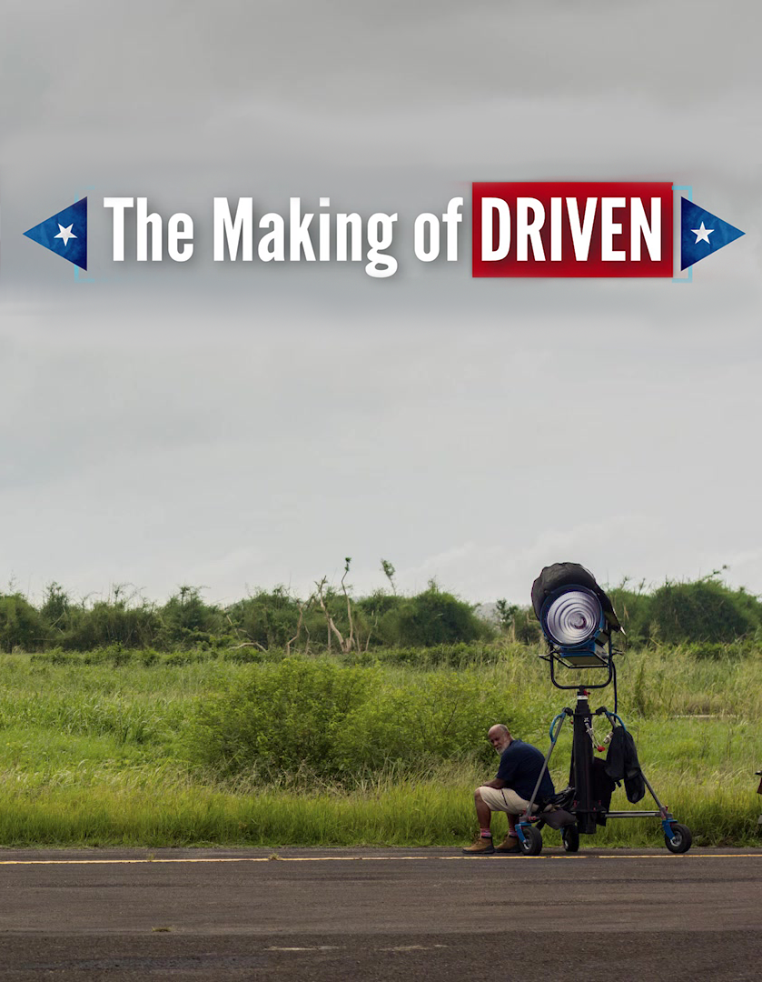 The Making of Driven - DRIVEN began filming in Puerto Rico in September 2017. Four days after principal photography commenced, Hurricane Maria hit the Island. This is the story of the local crew who pulled together to help finish a wild period comedy in the wake of the most devastating tropical storm of the past century.THE MAKING OF DRIVEN premiered at the 2018 Venice Film Festival.