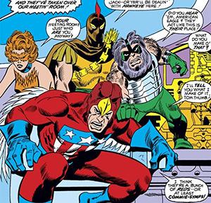 Cena de Avengers # 85 (1971): Primeira aparição do Esquadrão Supremo