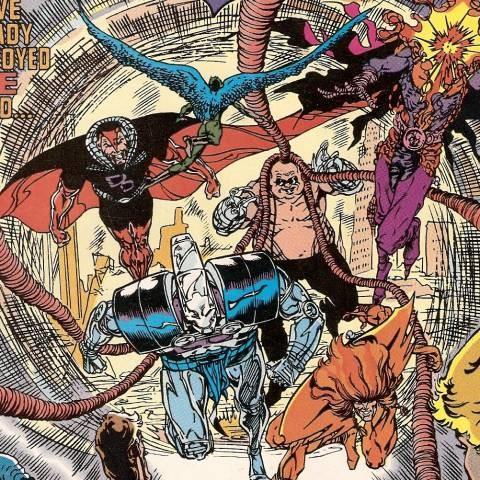 Justice League Europe # 15 (1990): Primeira aparição dos Extremistas