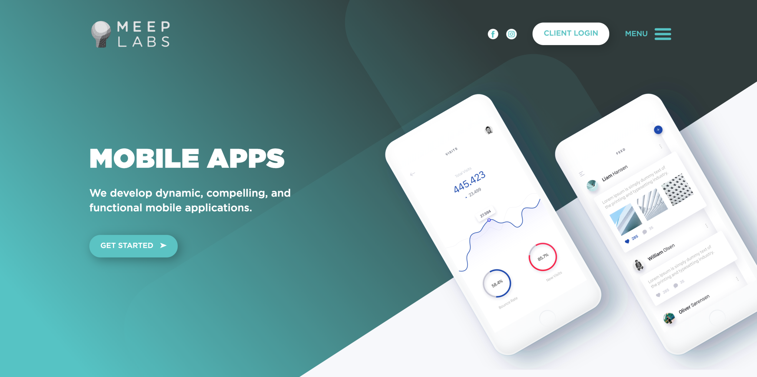 mobile apps page