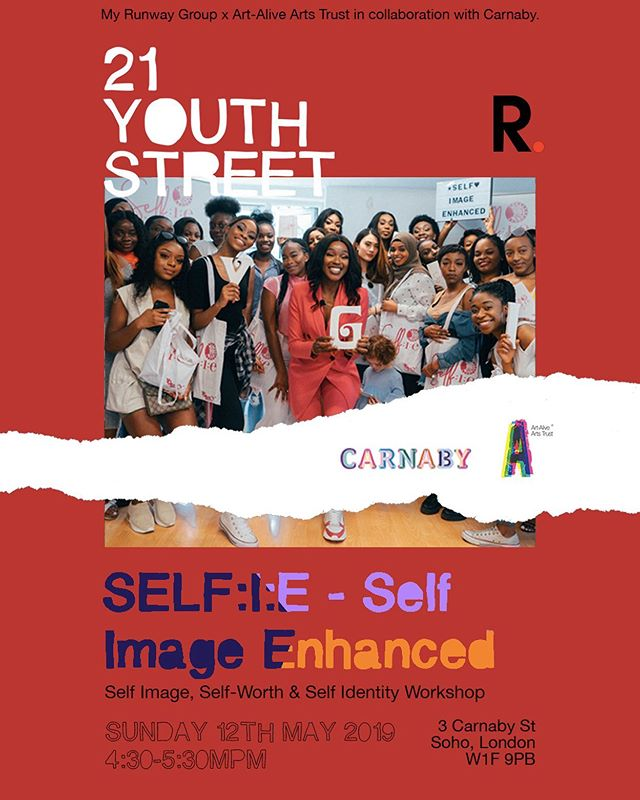 Ok ladies now let's get in formation! 💁🏿‍♀️👩🏻‍💼👩🏼‍🔬👩🏾‍⚖️🤳🏾 @bissakins is stepping into our #21YouthStreet hub this Sunday to present a self-worth, self identity, self image workshop and event - SELF:I:E. ⭕️ • FREE RSVP link bio.  #carnabylondon #creative #youth #arts #event #selfie #girlpower #bodypositivity #wellbeing #beauty #makeup #purpose #networking