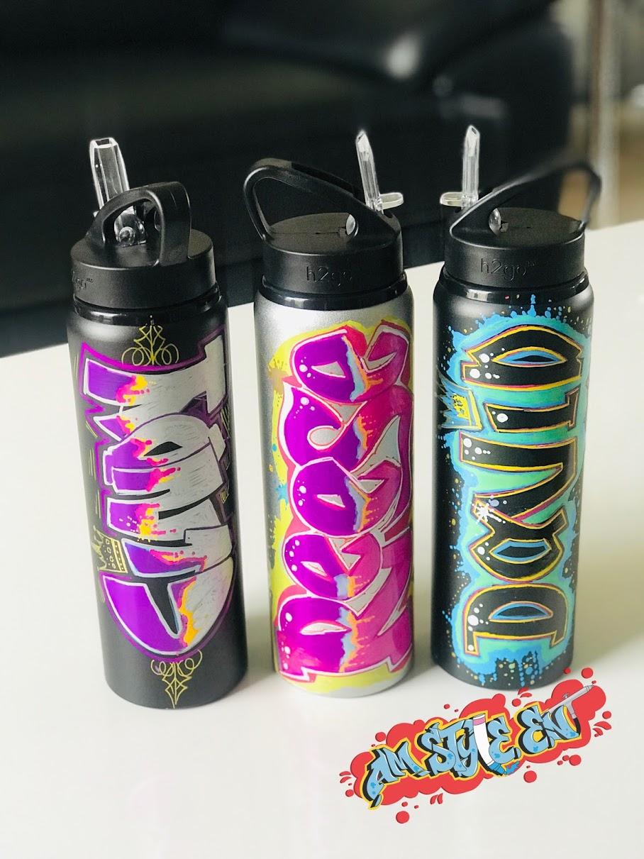 Graffiti Airbrush Bottle Art Painting for events
