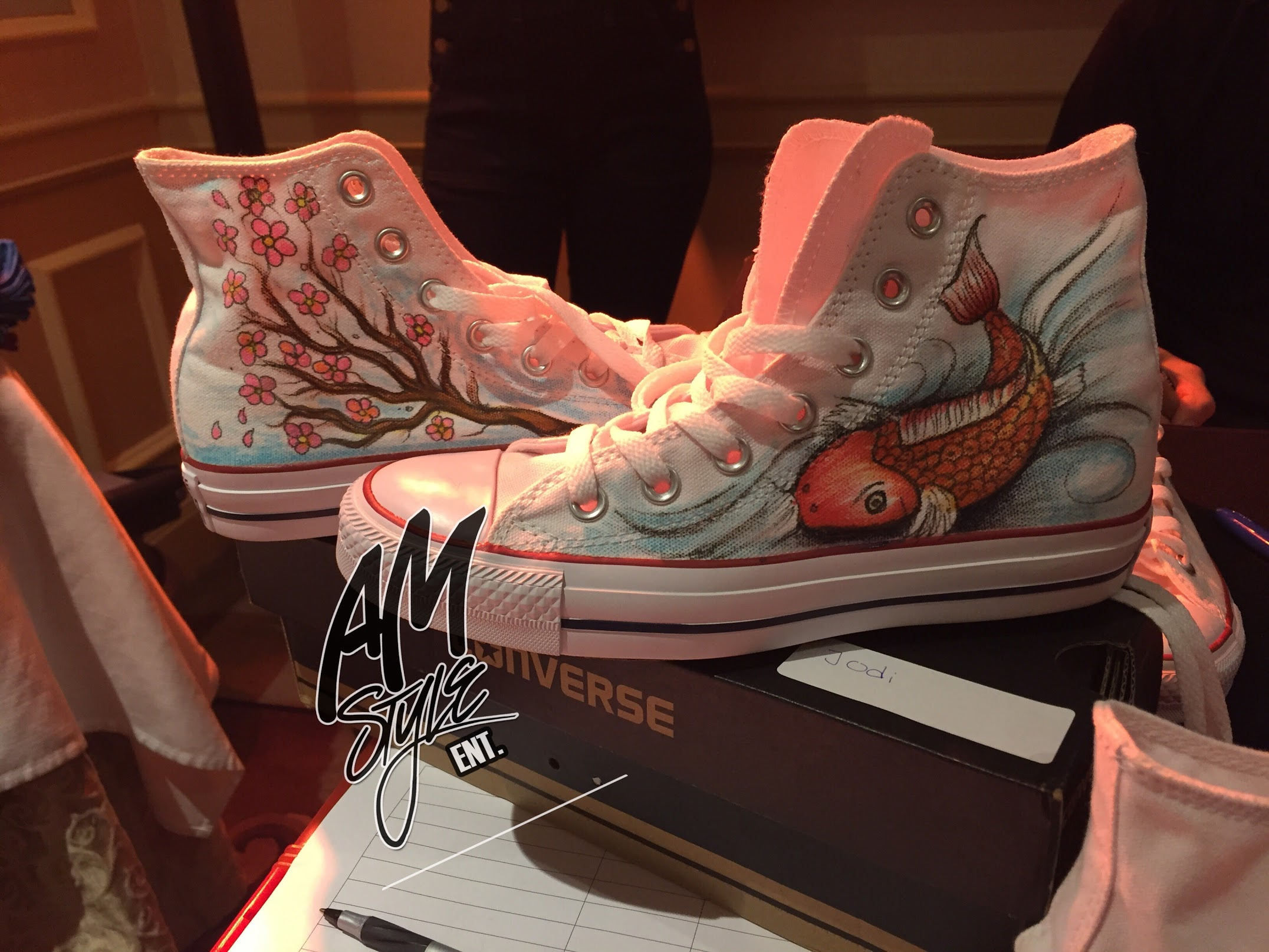 Custom Airbrush Graffiti Converse Shoes