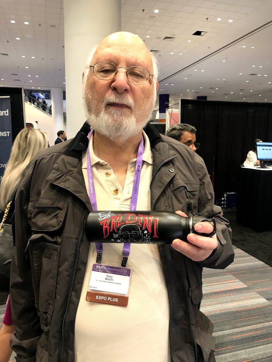 - The Great Baldini sporting one of our custom water bottles we made for him at RSA San Francisco