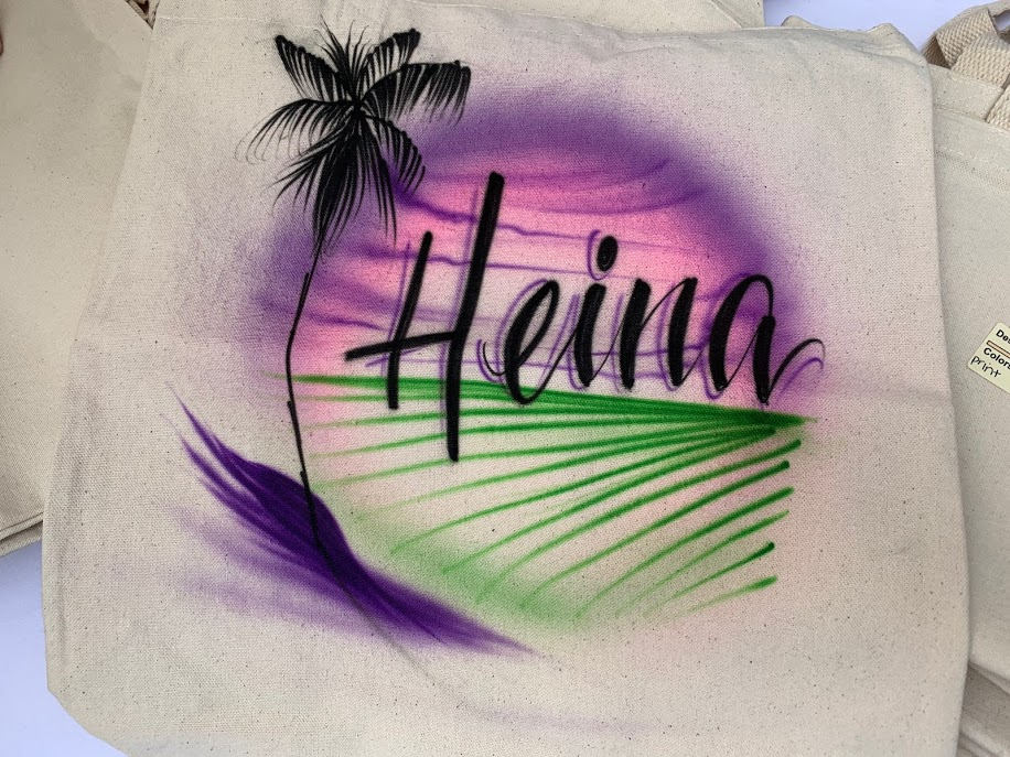 Airbrush artist tote bags