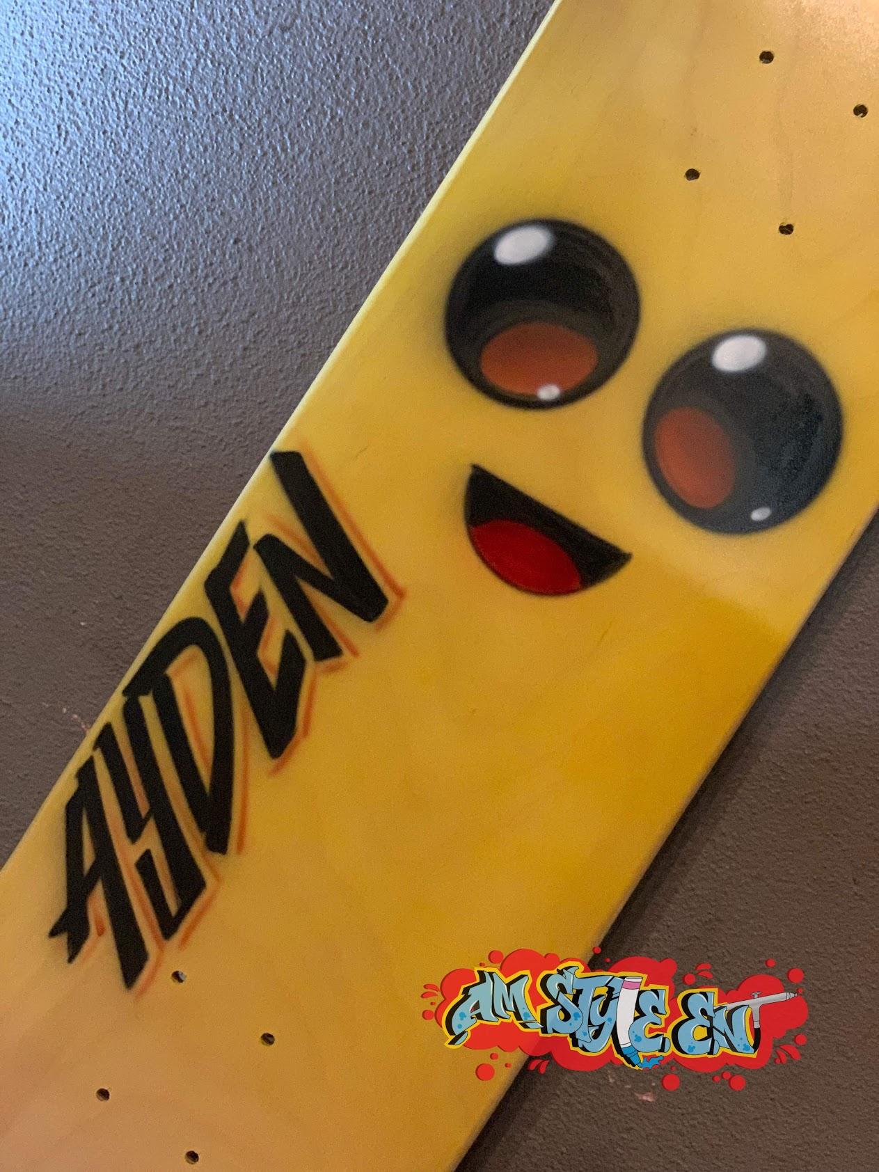 Airbrush Skateboard Party Favor