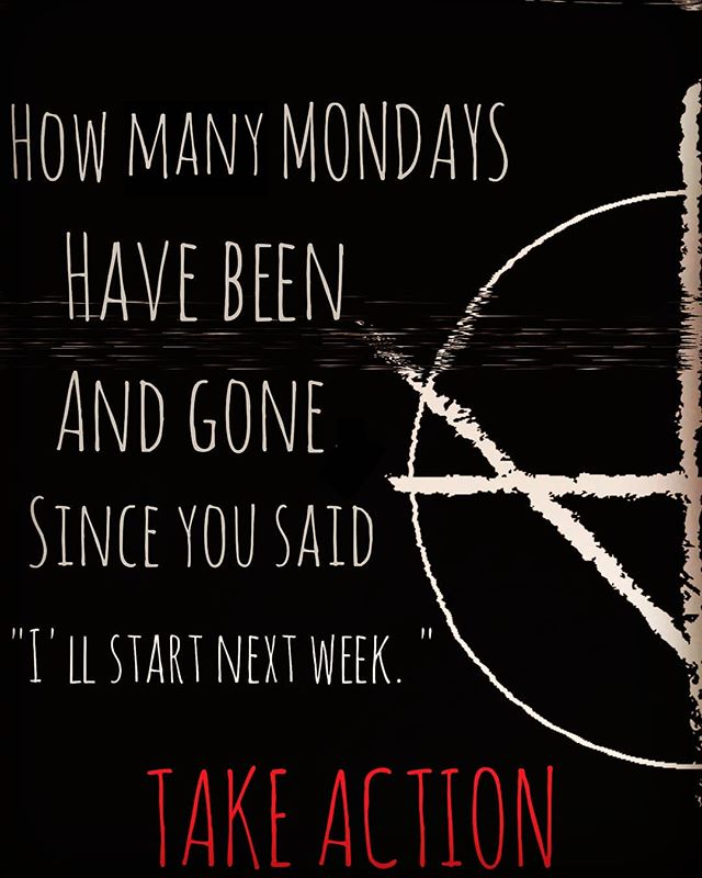 Every single day, even the weekends, you should be working towards your major goal but we are all human and get distracted.  Think of Monday as your fresh start for the week. Now, go take action. 😈 . . . . ❌  What is your goal for this week? ❌ . . . . . . . . .  #Demonsintoallies #lxxander  #cult #selfhelp #selfdiscipline #empowered #demons #occultism #occultart #demonia #whitewitch #meditatedaily  #gothaesthetic #gothlife #thecreativeshots #selfhelptips #innerdemons #cultlife #daemon #meditated #mondaymood