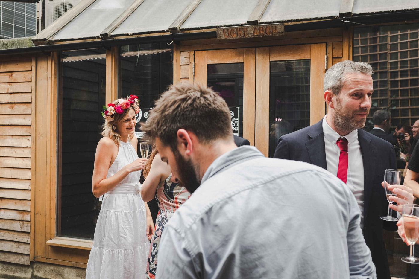 hackney wedding at London fields brewery