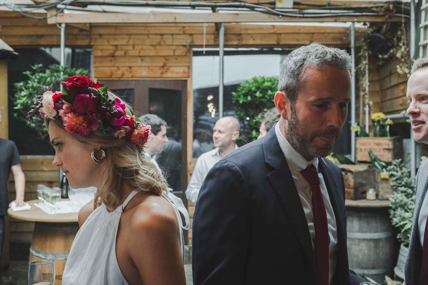 hackney wedding reception at London fields brewery