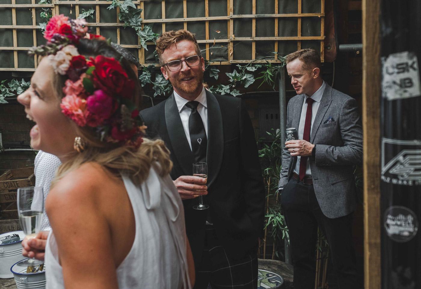 Wedding reception in Hackney, London fields brewery