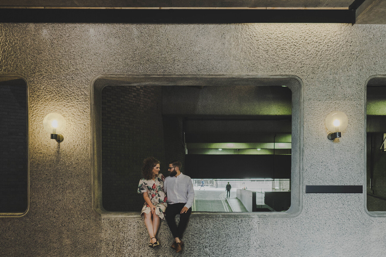 Barbican engagement shoot - Olga & James