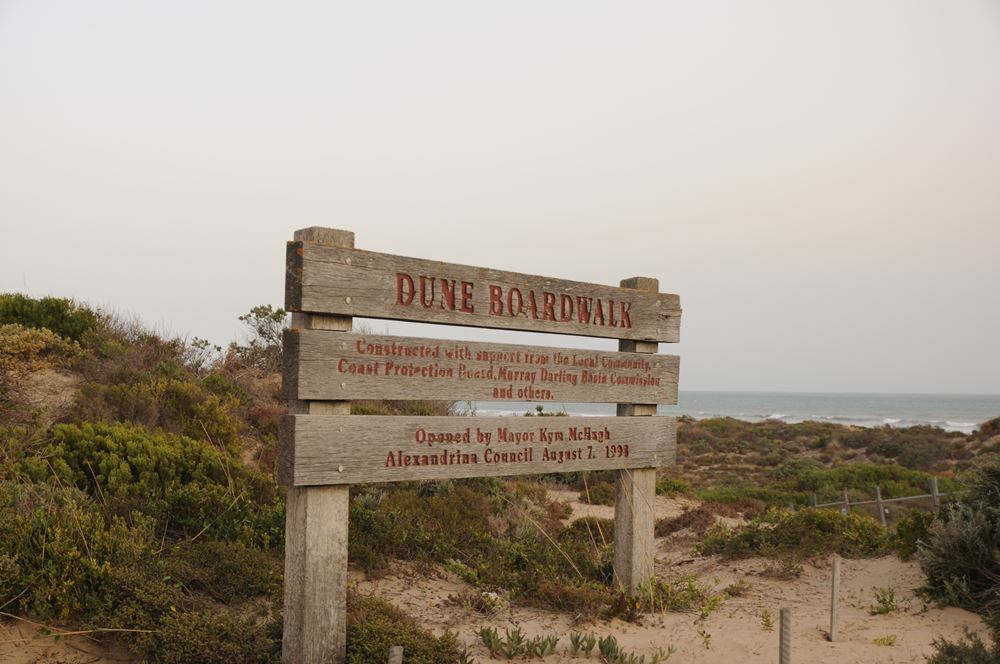 Take in the nearby dune boardwalk -