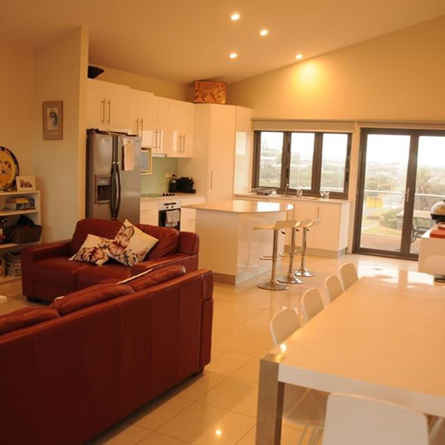 The are also two fully appointed kitchen and dining areas. This is a photo of the upper kitchen.