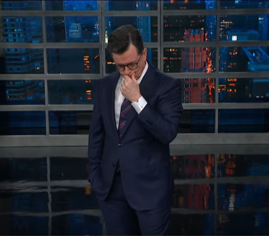 Watch Colbert skewer Sanders - Colbert Knows That We Have a Buffoon Running the Nation