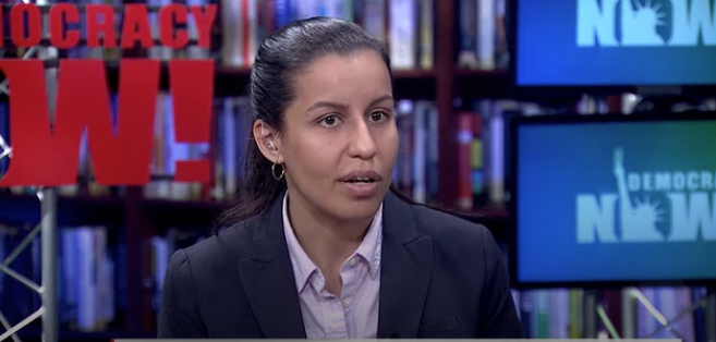 Tiffany Cabán. Photo from DemocracyNow-posted under creative commons license