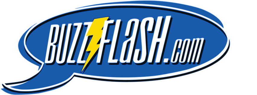 BuzzFlash's original logo premiered in the wake of the attempted impeachment of Bill Clinton.