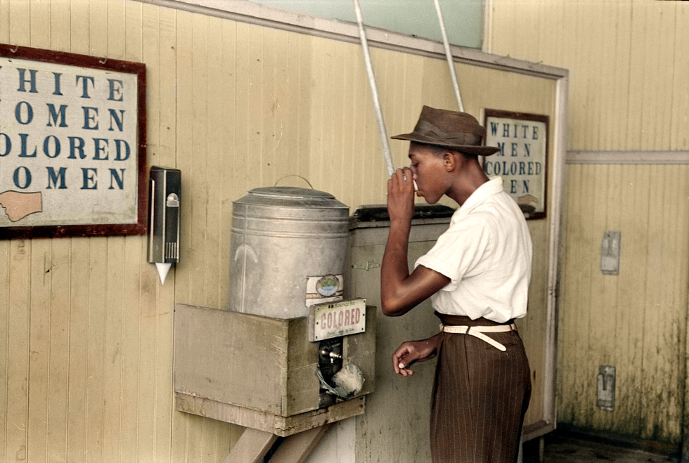 Segregated water cooler in Oklahoma City, 1939 ( Jared Enos  )