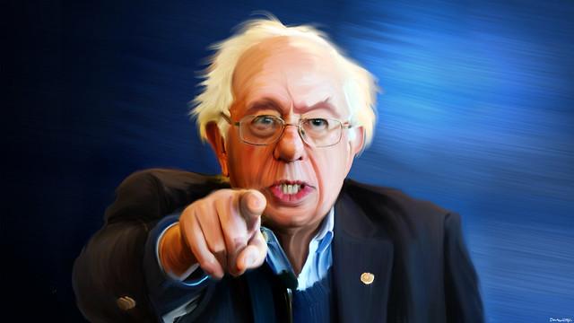 Bernie Sanders - Painting ( DonkeyHotey )