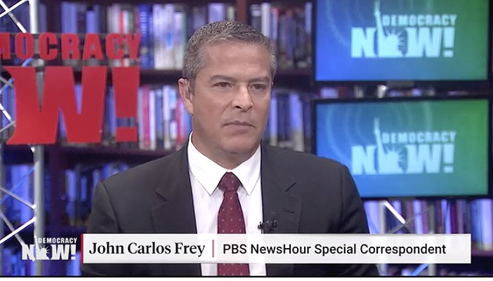 "John Carlos Frey- author of ""Sand and Blood"" (   Democracy Now!   )"