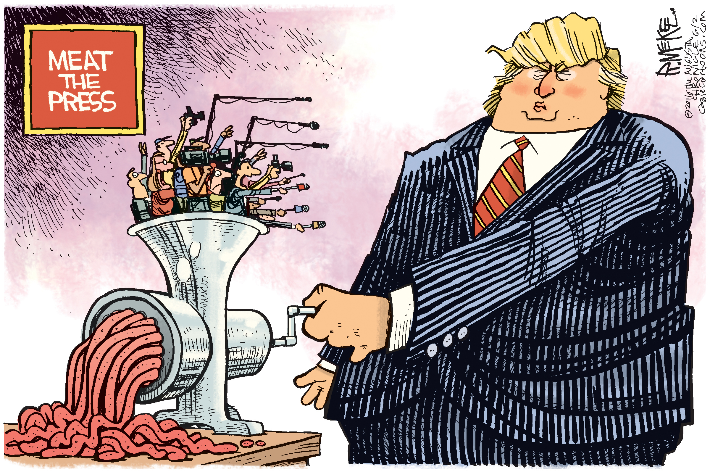 Meat The Press ( Rich McKee , The Augusta Chronicle, GA)