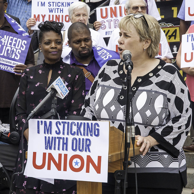 Winfield Rallies in Protest to Court Ruling Against Unions ( CT Senate Democrats )