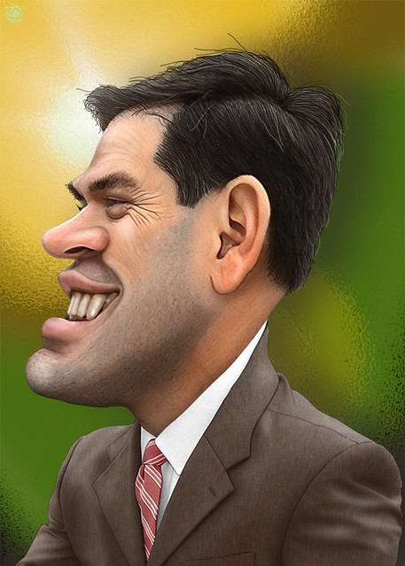 Marco Rubio - Caricature ( DonkeyHotey )