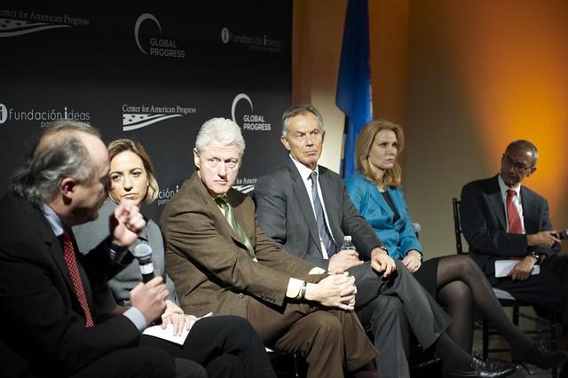 Matthias Machnig, Carme Chacón, Bill Clinton, Tony Blair, Helle Thorning-Schmidt, John Podesta (   Center for American Progress   )
