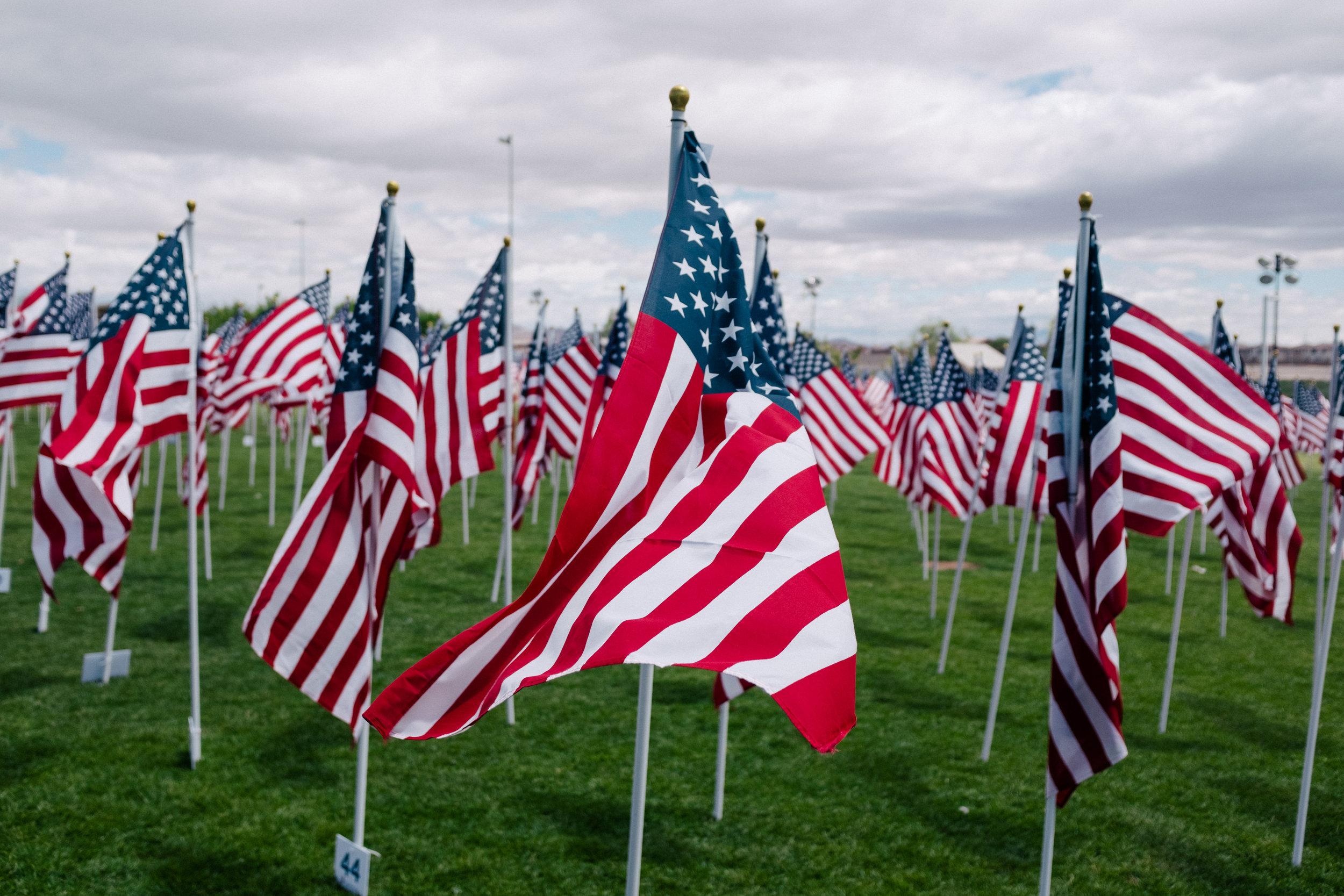 American Flags ( Wesley Tingey )