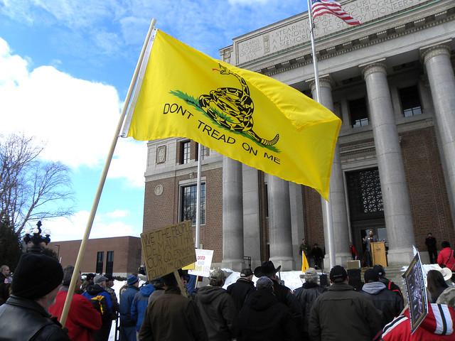 Tea Party Pro Gun Rally ( Fibonacci Blue )