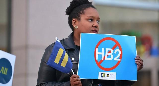 "Protest against North Carolina ""Bathroom Bill"" (   Sarah Winstonn   )"