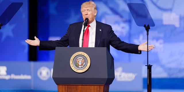 Donald J. Trump at CPAC 2017 February 24th 2017 (   Michael Vadon   )