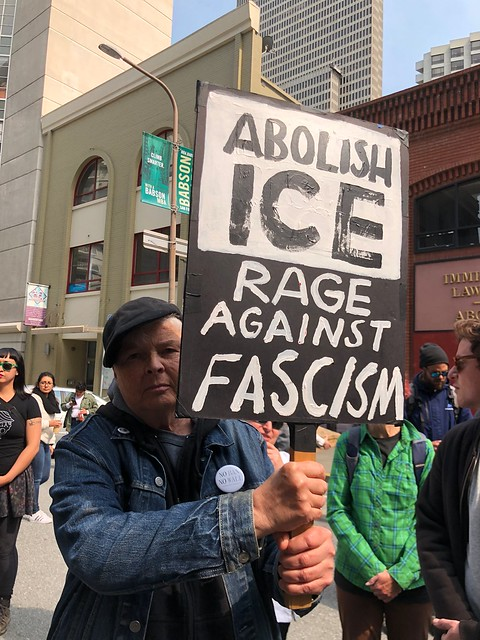 Abolish ICE protest ( Master Steve Rapport )