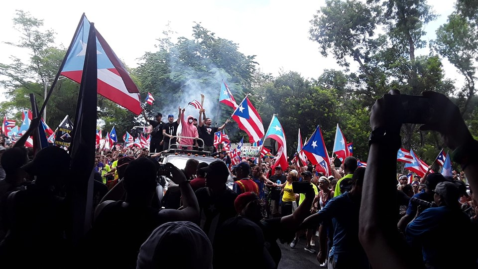 Protesters celebrate Ricardo Rossello resignation ( Daryana Rivera )