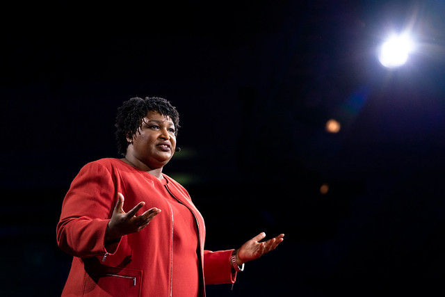 Stacey Abrams speaking at TED ( TED Conference )