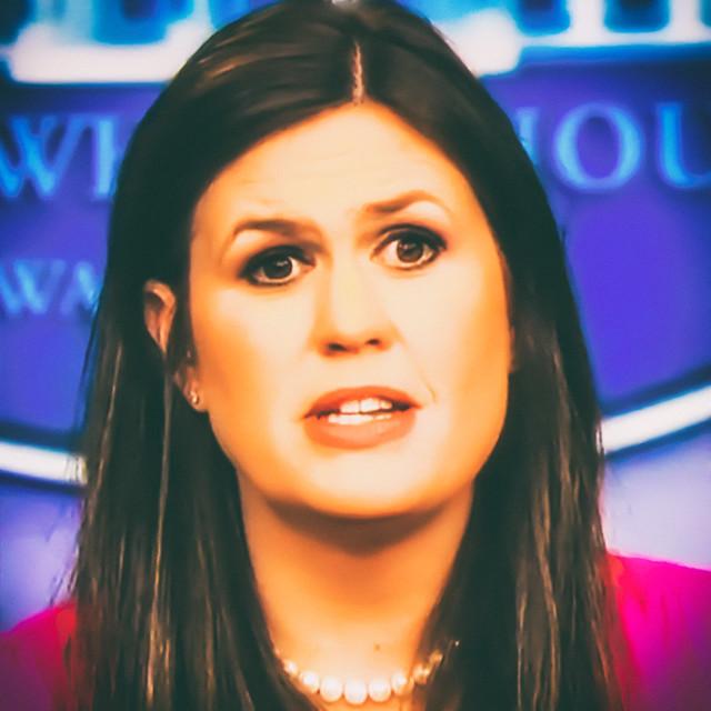 Sarah Huckabee Sanders, former liar for the Liar-in-Chief Trump ( Thomas Hawk )