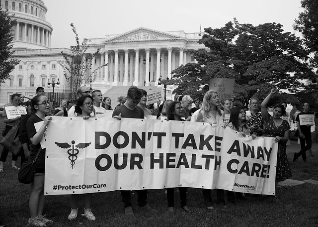 Trumpcare protest at the US Capital ( Stephen Melkisethian )