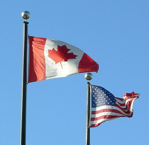 Flags of USA and Canada ( Makaristos )