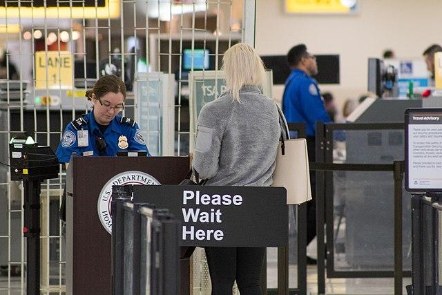 TSA agent at a checkpoint ( Michael Ball )