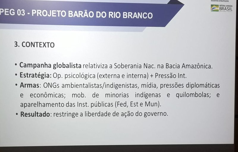 One of the slides from the presentation. | democraciaAbierta
