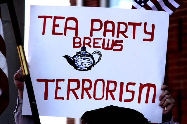 Tea Party Brews Terrorism sign ( Gage Skidmore )