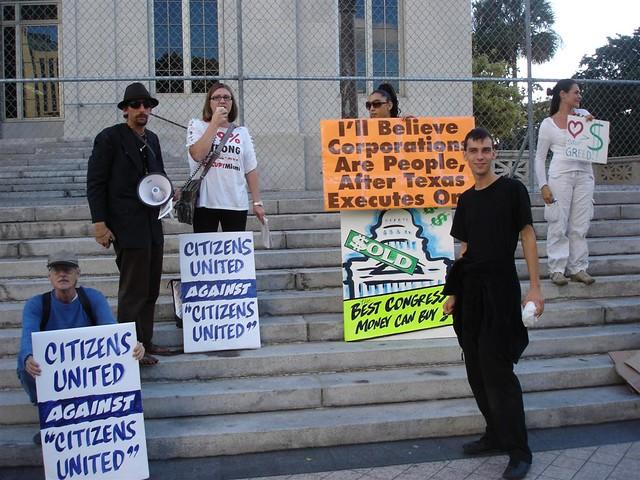Citizens Against Citizens United ( Occupy Miami Photos )